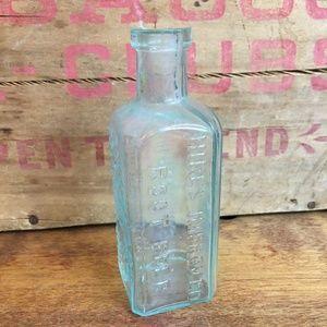 Rare Vintage Blue Glass Root Beer Bottle